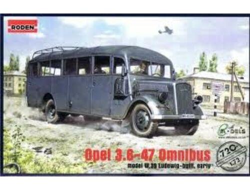 Roden Opel Blitz Bus 3.6-47 type W39 Ludewig 1:72 (720)
