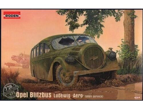 "Roden Opel Blitzbus Ludewig ""Aero""WWII service 1:72 (728)"