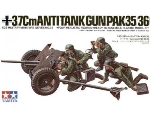Tamiya German 3,7cm PAK 35/36 w/Fig. 1:35 (35035)