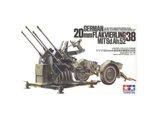 Tamiya WWII Ger.20mm Flakvierling 38 1:35 (35091)