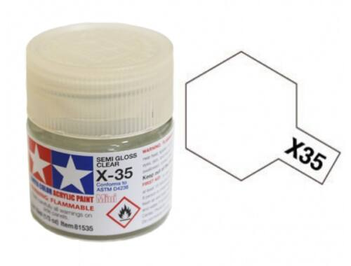 Tamiya AcrMini X-35 Semi Gloss Clear (81535)