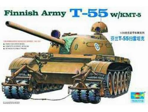 Trumpeter Finnish Tank T-55 with KMT-5 1:35 (341)
