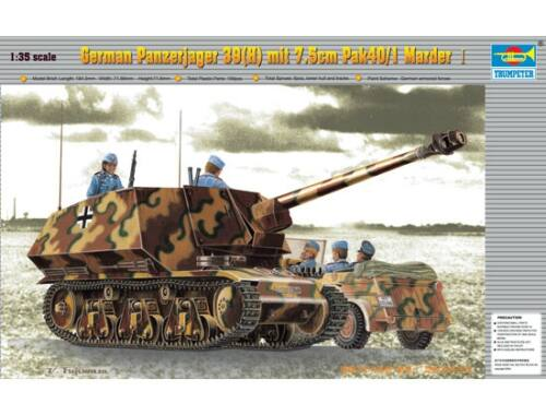 Trumpeter PzKpfw 39(H) Panzerjäger mit 7,5 cm Pak 40/1 Marder 1:35 (00354)