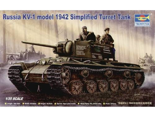Trumpeter Russischer Panzer KV-1, 1942 Einfacher Turm 1:35 (00358)