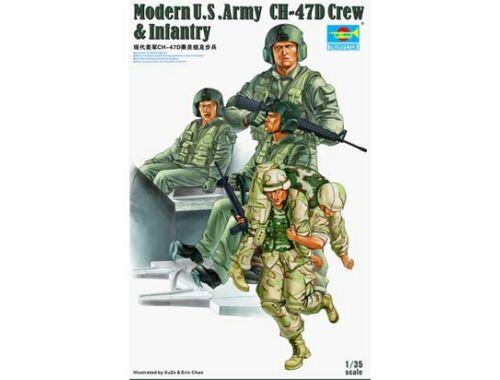 Trumpeter Modern U.S. Army CH-47D Crew Infantry 1:35 (415)