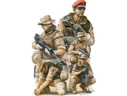 Trumpeter Modern German ISAF Soldiers in Afghanist 1:35 (00421)