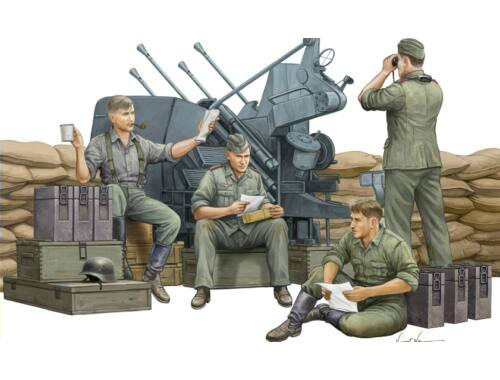Trumpeter German Anti-Aircraft Gun Crew 1:35 (432)
