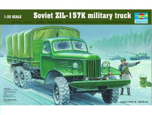 Trumpeter ZIL-157K Soviet Military Truck w/Canvas 1:35 (01003)