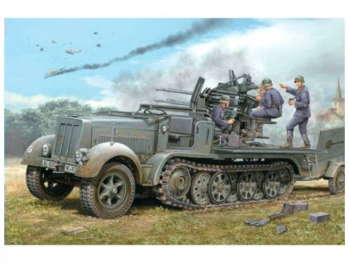 Trumpeter 2 cm Flakvierling 38 Selbstfahrlafette (Sd.Kfz.7/1 early version) 1:35 (01523)