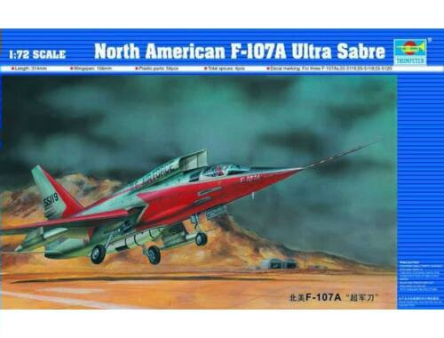 Trumpeter North American F-107 A Ultra Sabre 1:72 (01605)