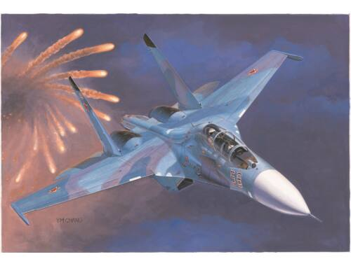 Trumpeter Russian Su-27UB Flanker C Fighter 1:72 (01645)