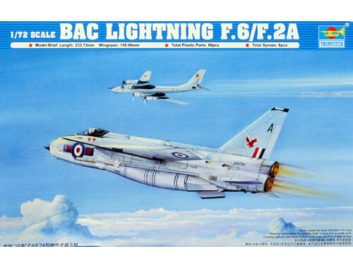 Trumpeter British Electric (BAC) Lightning F.2A/F.6 1:72 (01654)