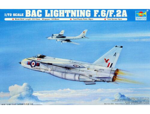 Trumpeter British Electric (BAC) Lightning F.2A/F.6 1:72 (1654)