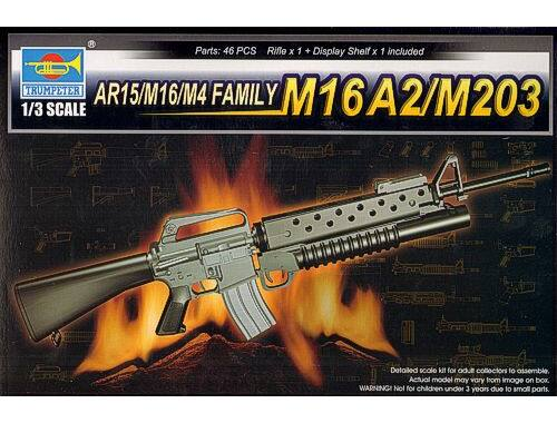 Trumpeter AR15/M16/M4 FAMILY-M16A2/M203 1:3 (1904)