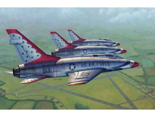 Trumpeter F-100D in Thunderbirds livery 1:48 (02822)