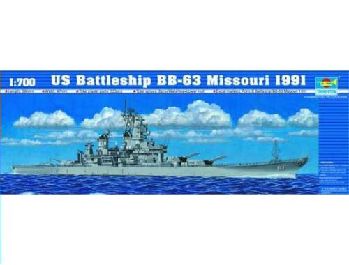 Trumpeter Battleship USS Missouri BB-63 1991 1:700 (5705)