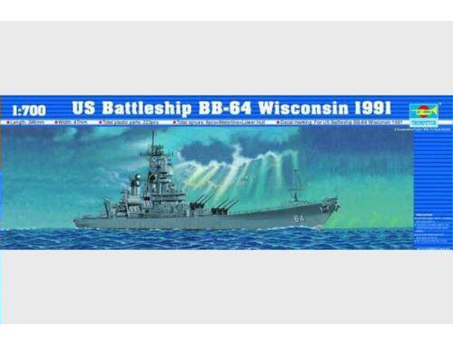 Trumpeter Battleship USS Wisconsin BB-64 1991 1:700 (5706)