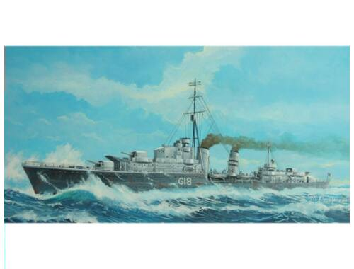 Trumpeter Tribal-class destroyer HMS Zulu (F18)'41 1:700 (05758)