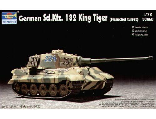 Trumpeter Sd.Kfz. 182 King Tiger Henschel 1:72 (07201)