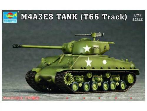 Trumpeter M4A3E8 Tank (T66 Track) 1:72 (07225)
