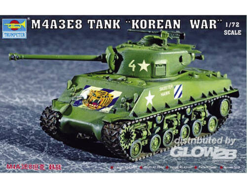 Trumpeter M4A3E8 Tank (T80 Track) 1:72 (7229)