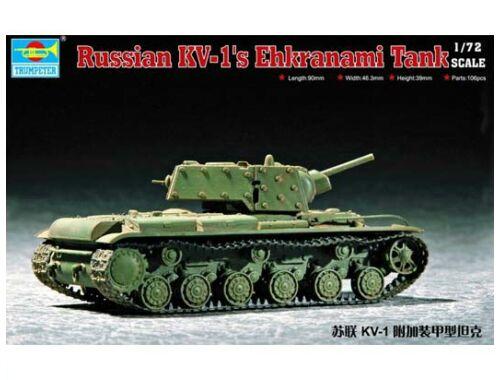 Trumpeter Soviet KV-1S Ehkranami 1:72 (07230)
