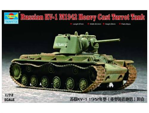 Trumpeter KV-1 1942 Heavy Cast Turret 1:72 (07231)