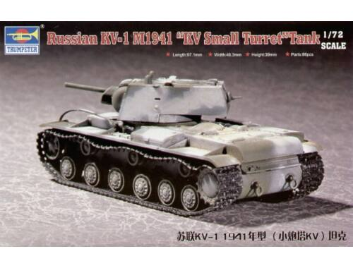 Trumpeter Russian KV-1 M1941 ''KV Small Turret'' Tank 1:72 (07232)