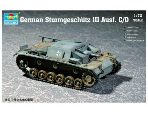 Trumpeter German Sturmgeschütz III Ausf. C/D 1:72 (7257)