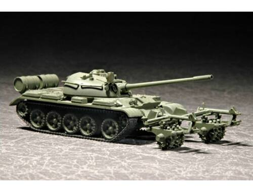 Trumpeter T-55 with KMT-5 1:72 (07283)