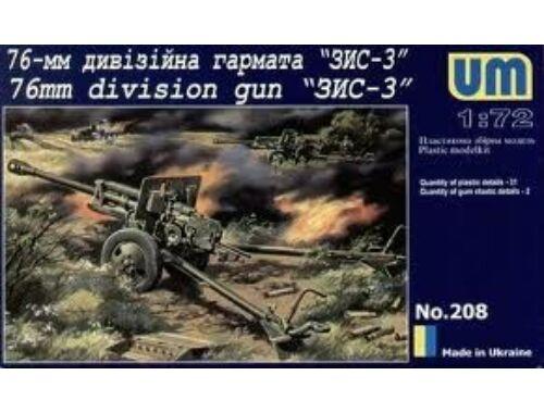Unimodel Zis 3, 76 mm Soviet Gun 1:72 (208)