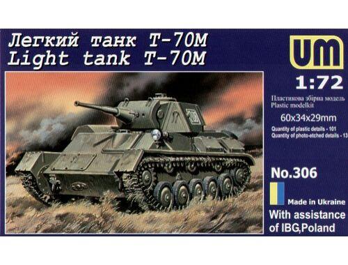 Unimodel Light tank T-70M 1:72 (306)