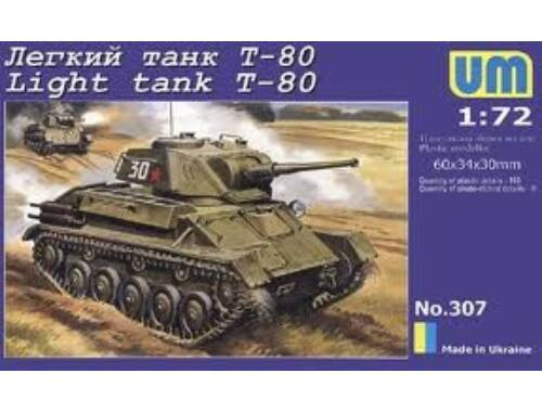 Unimodel Light Tank T-80 1:72 (307)