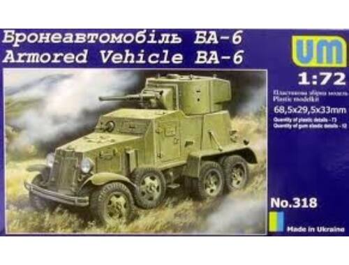 Unimodel Armored Vehicle BA-6 1:72 (318)