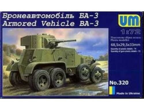 Unimodel Armored Vehicle BA-3 1:72 (320)
