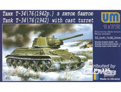 Unimodel Panzer T-34/76 (1942) 1:72 (325)