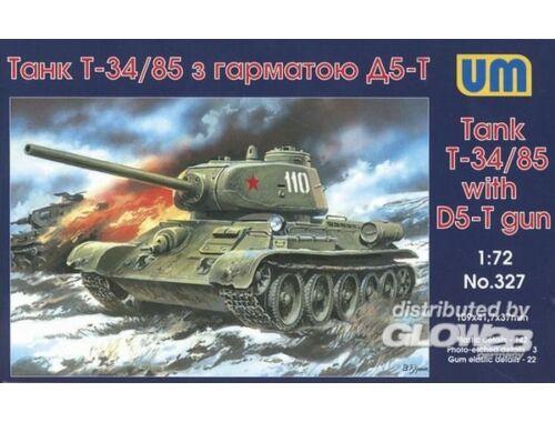 Unimodel T-34/85 with D5-T gun 1:72 (327)