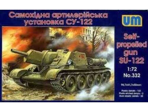 Unimodel SU-122 Self-propelled Gun 1:72 (332)
