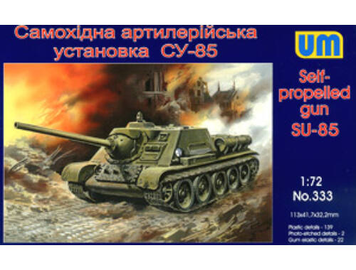 Unimodel SU-85 Self-propelled artillery plant 1:72 (333)