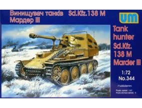 Unimodel Tank Hunter Sd.Kfz. 138 M Marder III 1:72 (344)