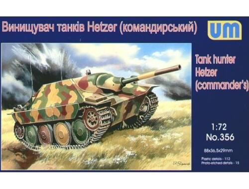 Unimodel Tank hunter Hetzer (Commanders) 1:72 (356)