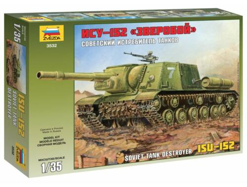 Zvezda ISU-152 Soviet Self-propelled Gun 1:35 (3532)