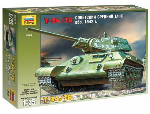 Zvezda T-34/76 Soviet Tank 1:35 (1942)