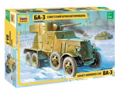 Zvezda BA-3 Soviet Armored Car 1:35 (3546)