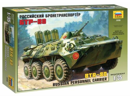 Zvezda BTR-80 Russian Personnel Carrier 1:35 (3558)