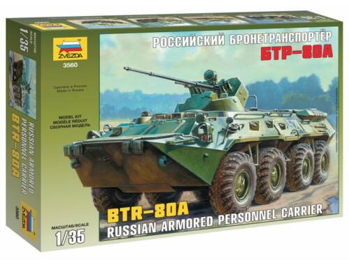 Zvezda BTR-80A Russian Personnel Carrier 1:35 (3560)