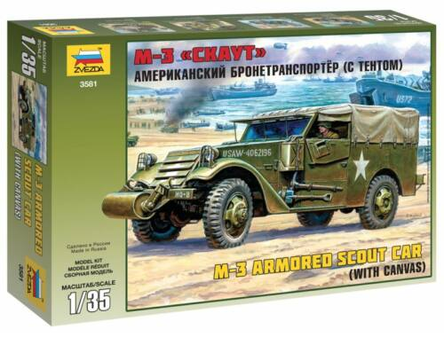 Zvezda M3 Armored Scout Car with Canvas 1:35 (3581)