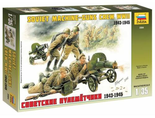 Zvezda Soviet Machineguns with Crew 1:35 (3584)