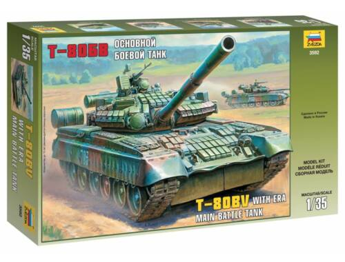 Zvezda T-80BV Russian Main Battle Tank 1:35 (3592)