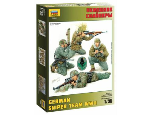 Zvezda German sniper team 1:35 (3595)